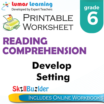 Develop Setting Printable Worksheet, Grade 6