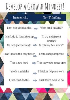 Develop a Growth Mindset!