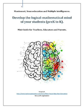 Develop the logical-mathematical mind  of your students (preK to K)