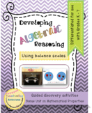 Developing Algebraic Reasoning Using Balance Scales for K