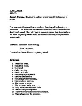 Developing Auditory Awareness