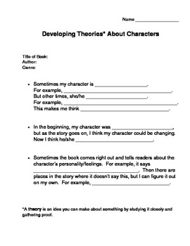 Developing Character Theories