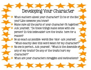 Developing Characters Anchor Chart