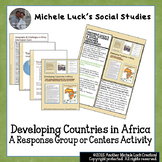 Developing Countries in Africa Response Group or Centers Activity