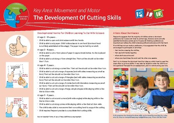 Developing Cutting Skills for 3-6 year olds