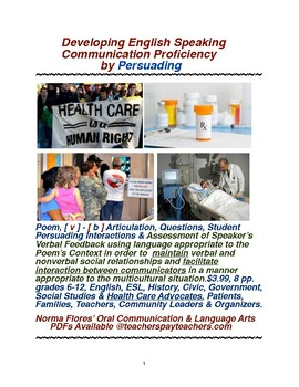 Developing English Speaking Communication Proficiency by Persuading