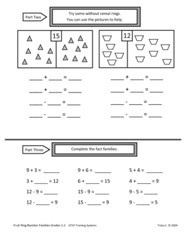 Developing Fact Families With Manipulatives