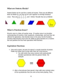 Common Core Math Practices - Using Pattern Blocks for Fraction Sense
