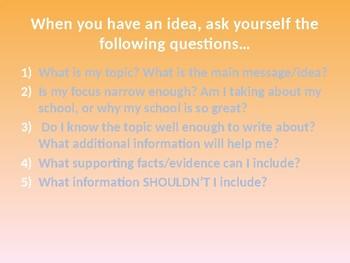 Developing Ideas Powerpoint