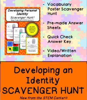 Developing Identity Health Class Scavenger Hunt