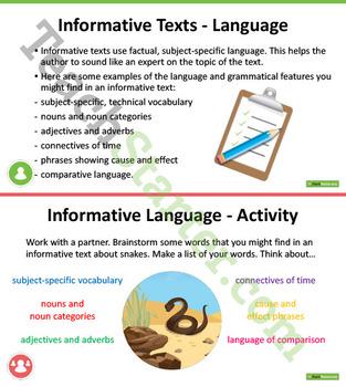 Developing Informative Writing Skills Unit Plan – Year 3 and Year 4