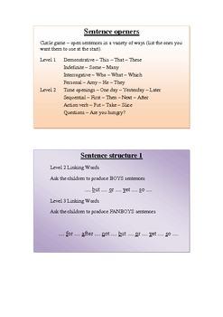 Developing Level 5  writing strategies