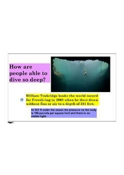 Freediving:  Phenomenon Anchored Unit on the Circulatory & Respiratory Systems