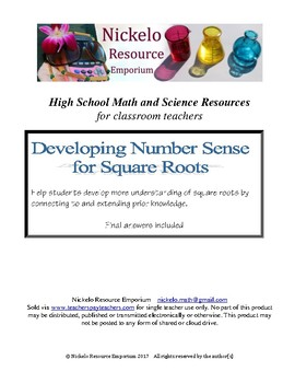 Developing Number Sense with Square Roots