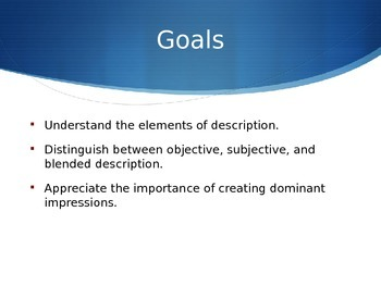 Developing Paragraphs Using Description