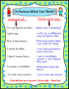 Developing Positive Mind Sets in Young Learners