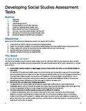Developing Primary Source-Based Assessment Tasks