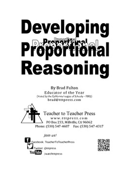 Developing Proportional Reasoning