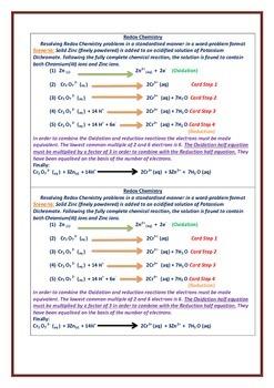 Developing Redox half-equations
