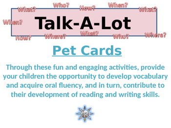 Developing Vocabulary and Oral Fluency: Interactive Fun With Pets