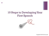 Developing Your First Speech Lecture and Activities