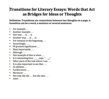Developing a Literary Argument-A CCSS ELA Unit