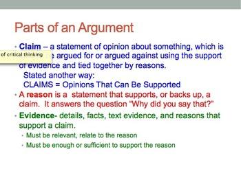 Developing a Literary Argument-A CCSS ELA Unit