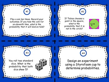 Developing a Probability Model Task Cards: 7.SP.7