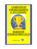 Behavior Intervention Plan Development