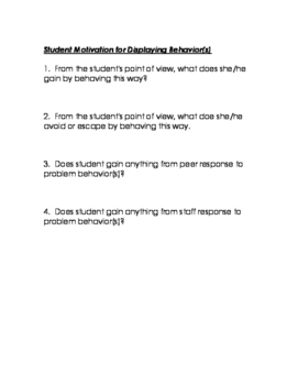 Behavior Intervention Plan Development