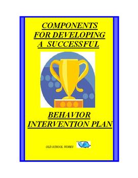 Successful Behavior Intervention Plan Development