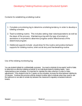 Developing a Toileting Routine using a Structured System