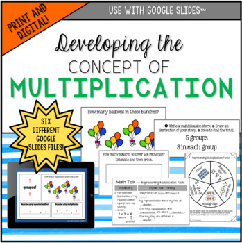 Developing the Concept of Multiplication