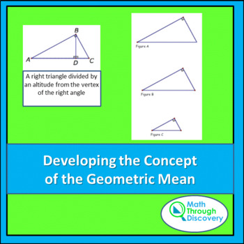 Developing the Concept of a Geometric Mean