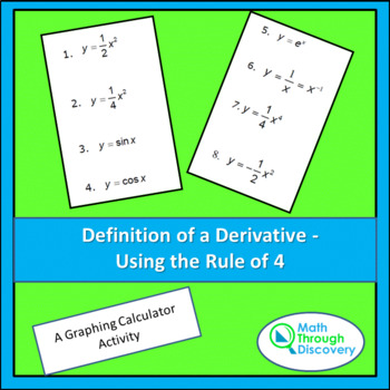 Calculus:  Definition of a Derivative  - Using the Rule of 4