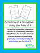 Definition of a Derivative  - Using the Rule of 4