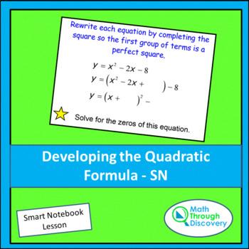 Algebra:  Developing the Quadratic Formula