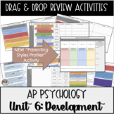 Development Stages Drag and Drop Charts & KEYS for AP Psychology