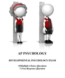 Development Unit Exam for AP Psychology