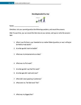 Development Unit: Parent Survey