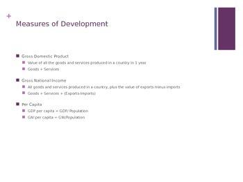 Development in South America