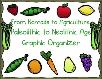 Development of Agriculture:  Corn Organizer-Paleolithic to Nelolithic