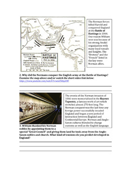 Development of English Government in the Middle Ages - Worksheets and Lesson