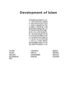 Development of Islam Word Search