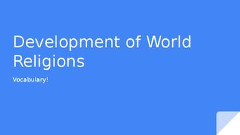 Development of World Religions Vocabulary Activity