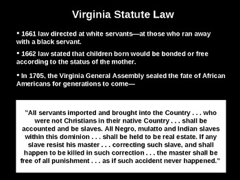 Development of the American Slave System