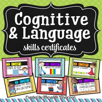 Developmental Certificates for Cognitive and Language Skills