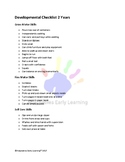Developmental Checklist 2 Years Motor and Self Care Skills