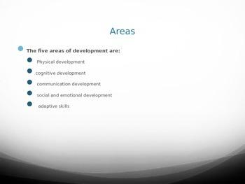 Developmental Delays PowerPoint