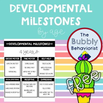 Developmental Milestones Handouts